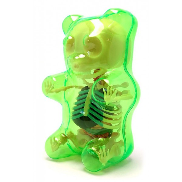 Fame Master - Small Gummi Bear - Green - 4D Master - Mighty Jaxx - Jason Freeny - Body Anatomy - XX Ray - Art Toys