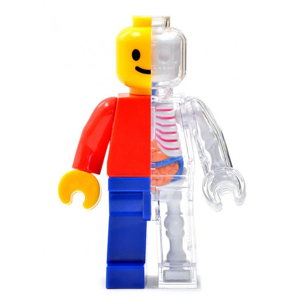 Fame Master - Uomo di Mattoncini - Lego - Classic - 4D Master - Mighty Jaxx - Jason Freeny - Body Anatomy - XX Ray - Art Toys