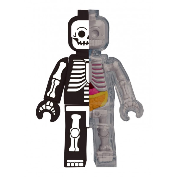 Fame Master - Small Brick Man - Lego - Skeleton - 4D Master - Mighty Jaxx - Jason Freeny - Body Anatomy - XX Ray - Art Toys