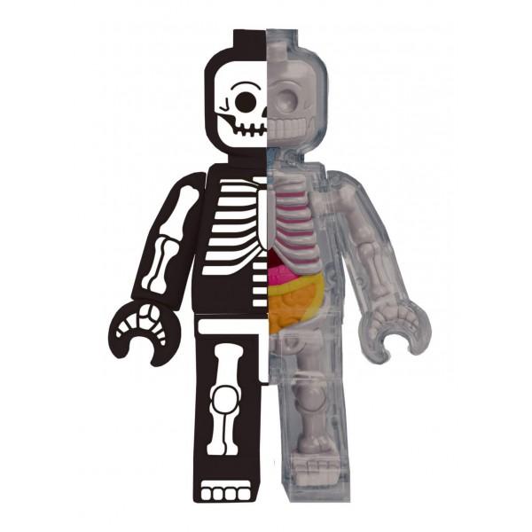 Fame Master - Small Brick Man - Skeleton - 4D Master - Mighty Jaxx - Jason Freeny - Body Anatomy - XX Ray - Art Toys