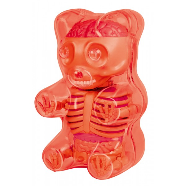 Fame Master - Small Gummi Bear - Red - 4D Master - Mighty Jaxx - Jason Freeny - Body Anatomy - XX Ray - Art Toys