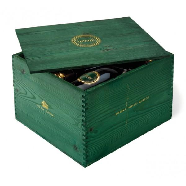 Villa Sandi - Reserve Amalia Moretti - Opere Trevigiane - Gift Box 6 Bt - Wooden Box - Quality Sparkling Wine V.S.Q. Brut