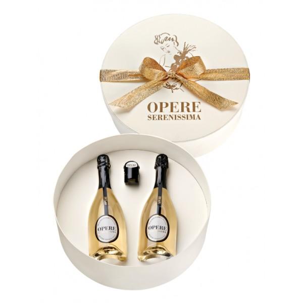 Villa Sandi - Serenissima D.O.C. - Opere Trevigiane - Gift Box 2 Bt - Bianco Oro - Vino di Qualità Brut - Prosecco e Spumanti