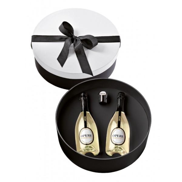 Villa Sandi - Serenissima D.O.C. - Opere Trevigiane - Gift Box 2 Bt - Bianco Nero - Vino di Qualità Brut - Prosecco e Spumanti