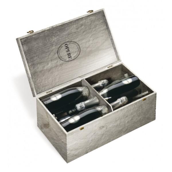 Villa Sandi - Brut - Opere Trevigiane - 6 Bottiglie - Cassa in Legno Argento - Vino Spumante di Qualità - Prosecco e Spumanti