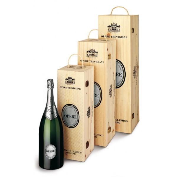 Villa Sandi - Brut - Opere Trevigiane - Jeroboam - Gift Box in Legno - Vino Spumante di Qualità Brut - Prosecco e Spumanti