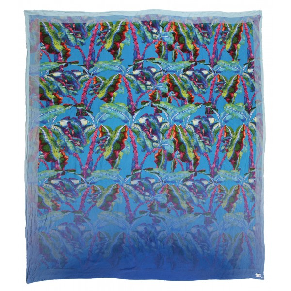 813 - Annalisa Giuntini - Silk Scarf with Colored Leaves - Scarves and Foulard - Scarf of High Quality Luxury