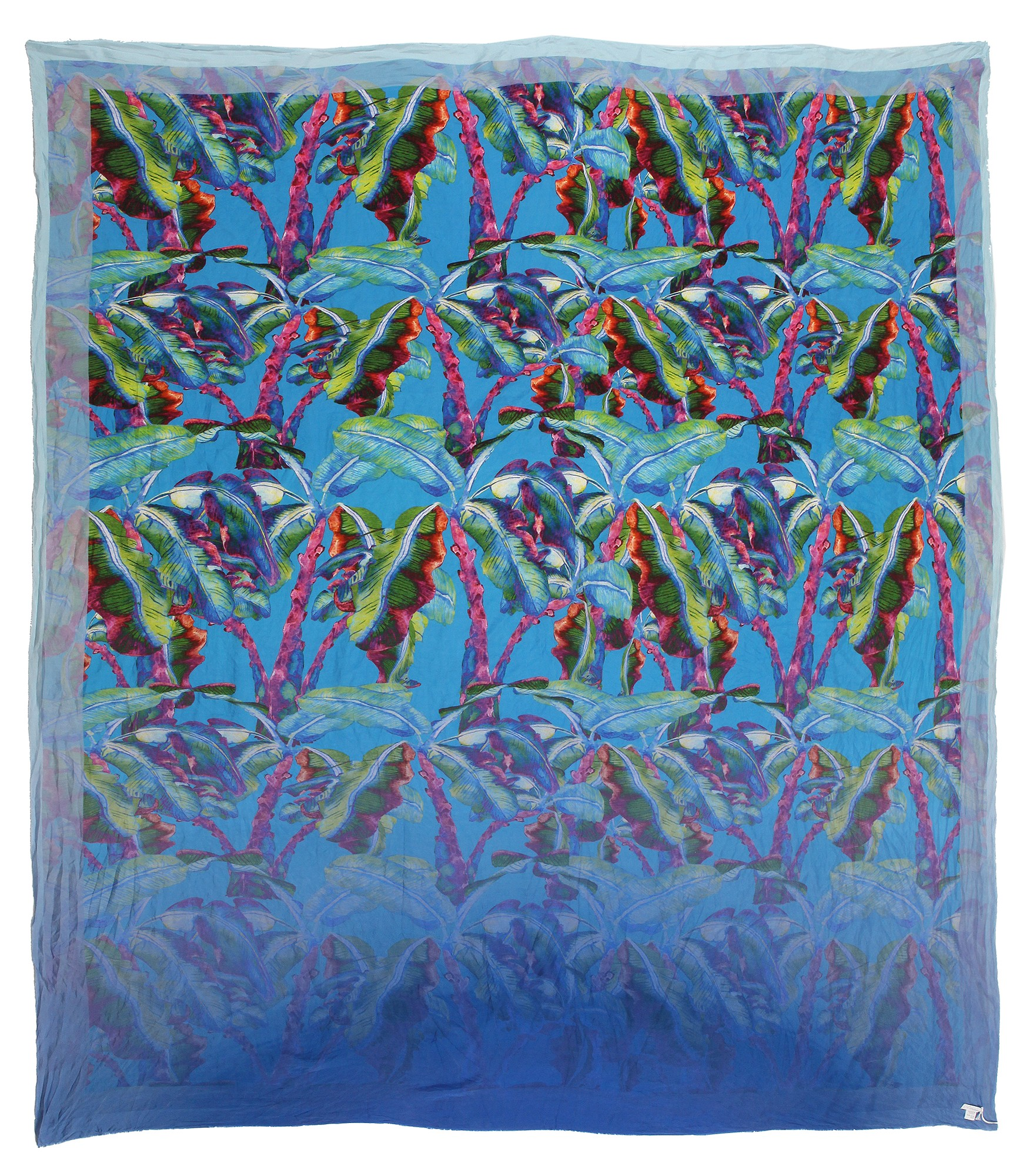 084b653ada891 813 - Annalisa Giuntini - Silk Scarf with Colored Leaves - Scarves and  Foulard - Scarf of High Quality Luxury - Avvenice