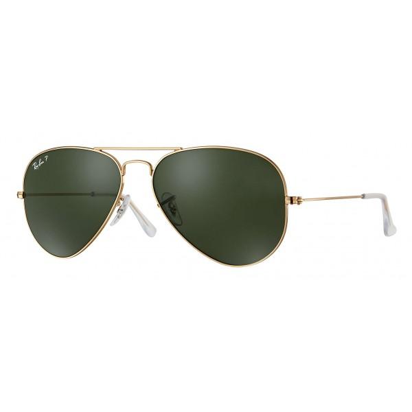 Ray-Ban - RB3025 001/58 - Original Aviator Classic - Oro - Lente Polarizzata Verde Classica G-15 - Occhiali da Sole - Eyewear