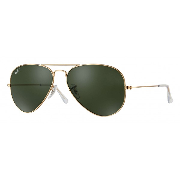 Ray-Ban - RB3025 001/58 - Original Aviator Classic - Gold - Polarized Green Classic G-15 Lenses - Sunglass - Ray-Ban Eyewear