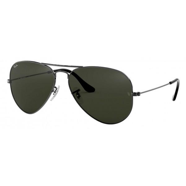 Ray-Ban - RB3025 W0879 - Original Aviator Classic - Gunmetal - Green Classic G-15 Lenses - Sunglass - Ray-Ban Eyewear