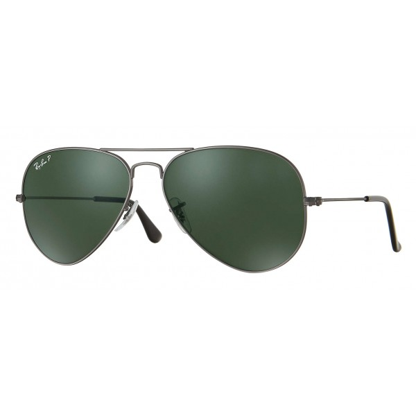 Ray-Ban - RB3025 004/58 - Original Aviator Classic - Canna di Fucile - Lente Polarizzata Verde G-15 - Occhiali da Sole - Eyewear