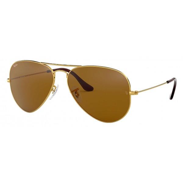 Ray-Ban - RB3025 001/33 - Original Aviator Classic - Oro - Lente Marrone Classica B-15 - Occhiali da Sole - Ray-Ban Eyewear