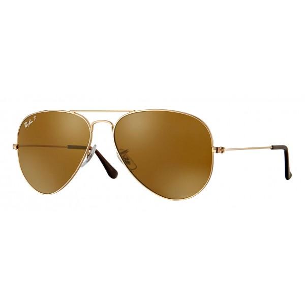 Ray-Ban - RB3025 001/57 - Original Aviator Classic - Oro – Lente Polarizzata Marrone Classica B-15 - Occhiali da Sole - Eyewear
