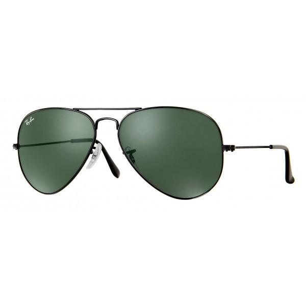 Ray-Ban - RB3025 L2823 - Original Aviator Classic - Nero - Lente Verde Classica G-15 - Occhiali da Sole - Ray-Ban Eyewear