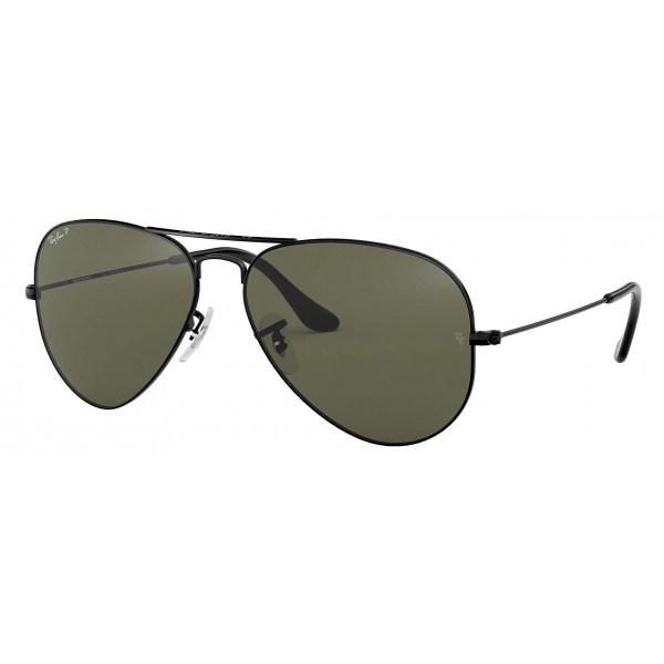 Ray-Ban - RB3025 002/58 - Original Aviator Classic - Black - Polarized Green Classic G-15 Lenses - Sunglass - Ray-Ban Eyewear