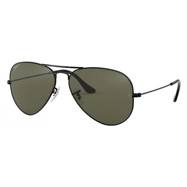 Ray-Ban - RB3025 002/58 - Original Aviator Classic - Nero - Lente Polarizzata Verde Classica G-15 - Occhiali da Sole - Eyewear