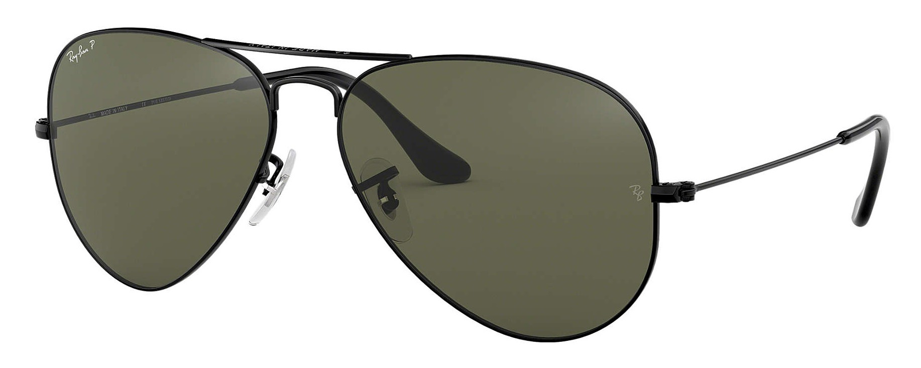 ray ban aviators black polarized