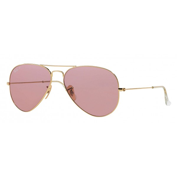 Ray-Ban - RB3025 001/15 - Original Aviator Classic - Gold - Polarized Pink Legend Lenses - Sunglass - Ray-Ban Eyewear