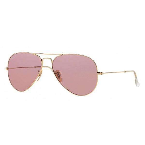 Ray-Ban - RB3025 001/15 - Original Aviator Classic - Oro - Lente Polarizzata Rosa Legend - Occhiali da Sole - Ray-Ban Eyewear