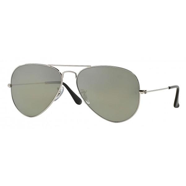 Ray-Ban - RB3025 003/59 - Original Aviator Classic - Argento - Lente Polarizzata Grigio Specchiata - Occhiali da Sole - Eyewear