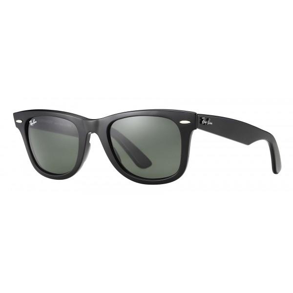 Ray-Ban - RB2140 901 - Original Wayfarer Classic - Black - Green Classic G-15 Lenses - Sunglass - Ray-Ban Eyewear
