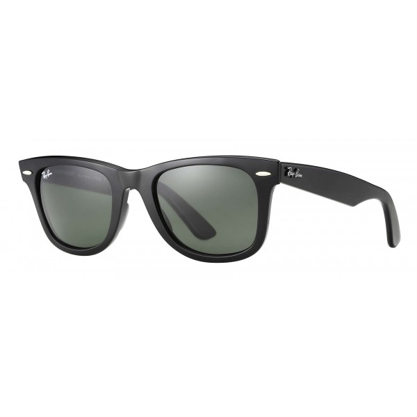 Ray-Ban - RB2140 901 - Original Wayfarer Classic - Nero - Lente Verde Classica G-15 - Occhiali da Sole - Ray-Ban Eyewear