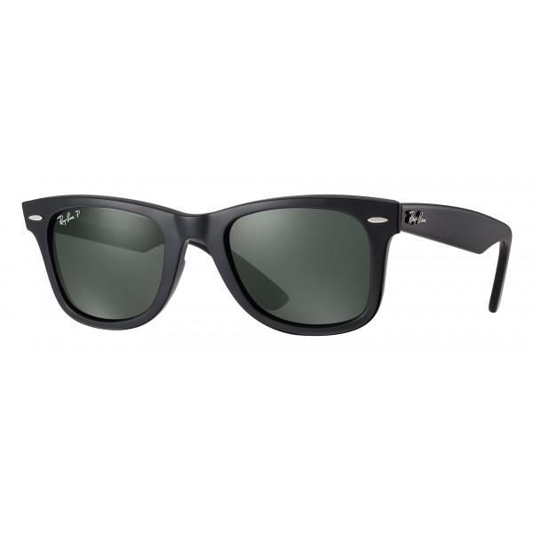 Ray-Ban - RB2140 901/58 - Original Wayfarer Classic - Nero - Lente Polarizzata Verde G-15 - Occhiali da Sole - Ray-Ban Eyewear