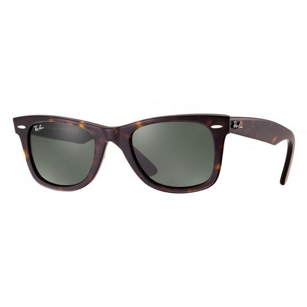 Ray-Ban - RB2140 902 - Original Wayfarer Classic - Tartaruga - Lente Verde Classica G-15 - Occhiali da Sole - Ray-Ban Eyewear