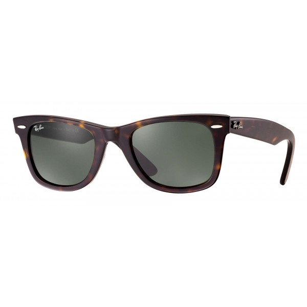 Ray-Ban - RB2140 902 - Original Wayfarer Classic - Tortoise - Green Classic G-15 Lenses - Sunglass - Ray-Ban Eyewear