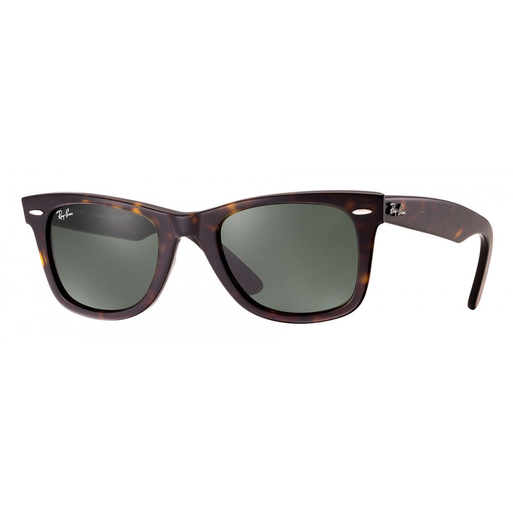bed11728353 Ray-Ban - RB2140 902 - Original Wayfarer Classic - Tortoise - Green Classic  G-15 Lenses - Sunglass - Ray-Ban Eyewear - Avvenice
