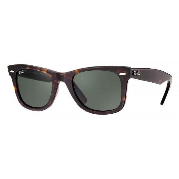 Ray-Ban - RB2140 902/58 - Original Wayfarer Classic - Tortoise - Polarized Green Classic G-15 Lenses - Sunglass - Eyewear