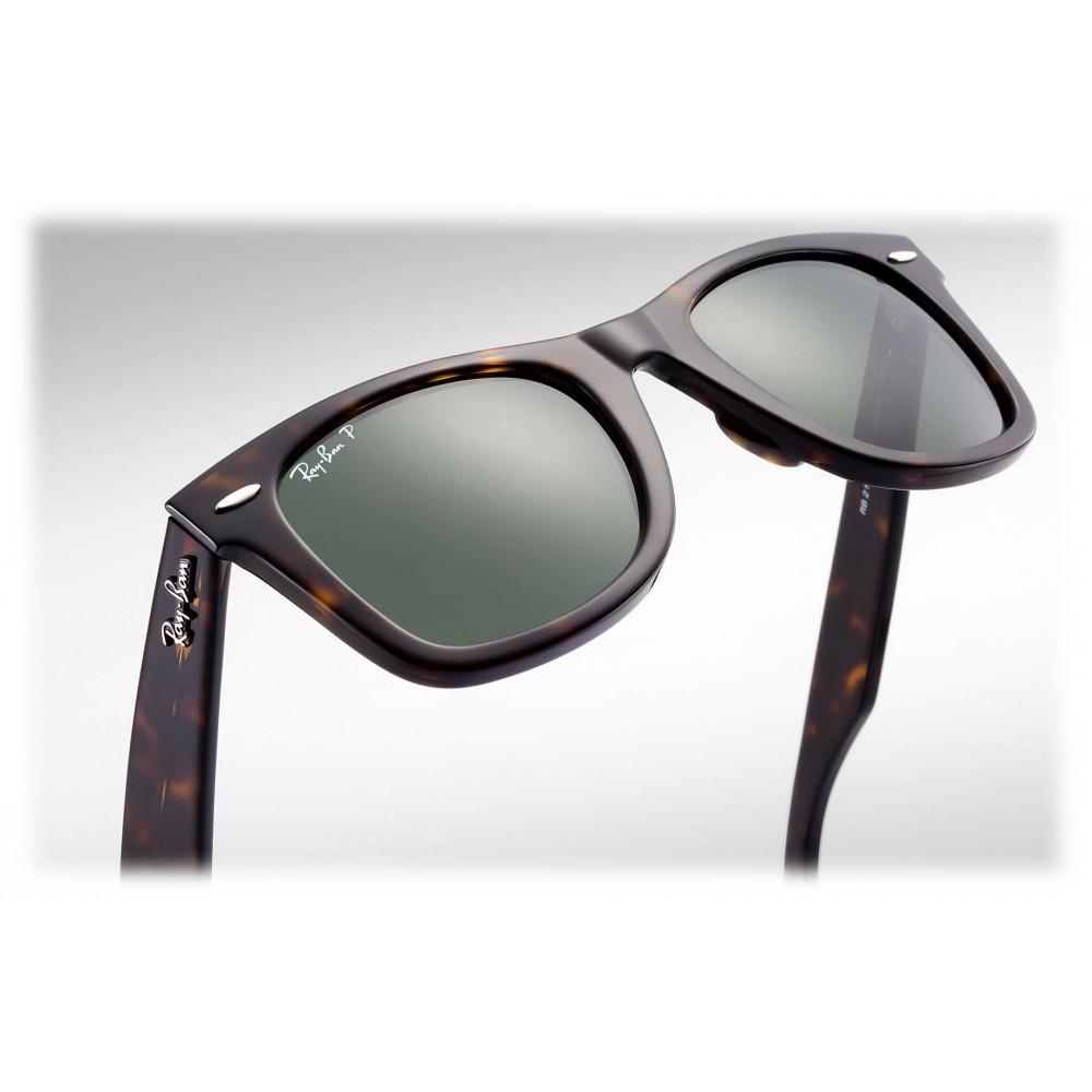 Ray Ban RB2140 90258 Original Wayfarer Classic Tartaruga Lente Polarizzata Verde G 15 Occhiali da Sole Eyewear