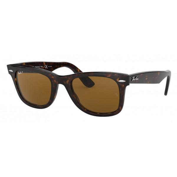 Ray-Ban - RB2140 902/57 - Original Wayfarer Classic - Tortoise - Polarized Brown Classic B-15 Lenses - Sunglass - Eyewear