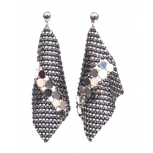Laura B - New Basic Kite Earrings - Orecchini in Maglia - Doré - Linea Bianca - Orecchini Artigianali - Alta Qualità Luxury