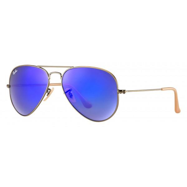 Ray-Ban - RB3025 167/68 - Original Aviator Flash Lenses - Bronze-Copper - Blue Mirror Lenses - Sunglass - Ray-Ban Eyewear