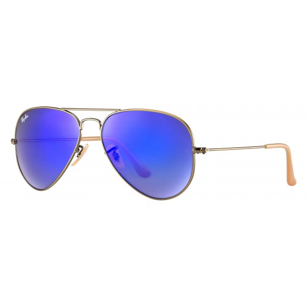 ray ban aviator rb3025 blue mirror