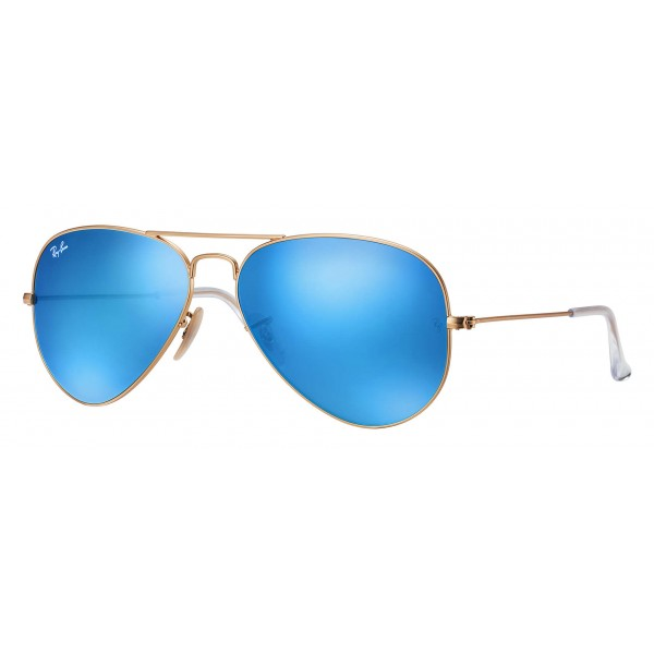 Ray-Ban - RB3025 112/17 - Original Aviator Flash Lenses - Gold - Blue Flash Lenses - Sunglass - Ray-Ban Eyewear