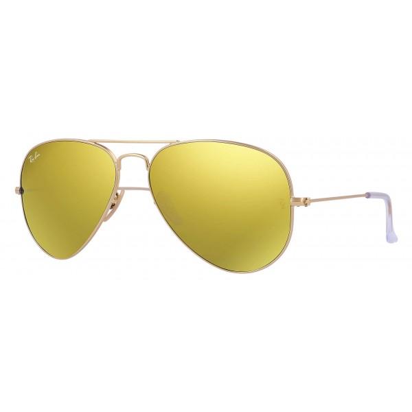 9002a770a3 Ray-Ban - RB3025 112/93 - Original Aviator Flash Lenses - Gold - Yellow  Flash Lenses - Sunglass - Ray-Ban Eyewear - Avvenice