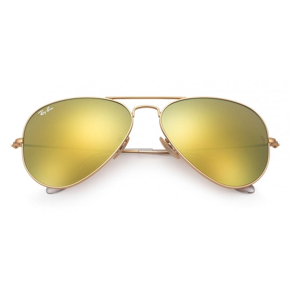 17d66c7f0d4af ... Ray-Ban - RB3025 112 93 - Original Aviator Flash Lenses - Gold -