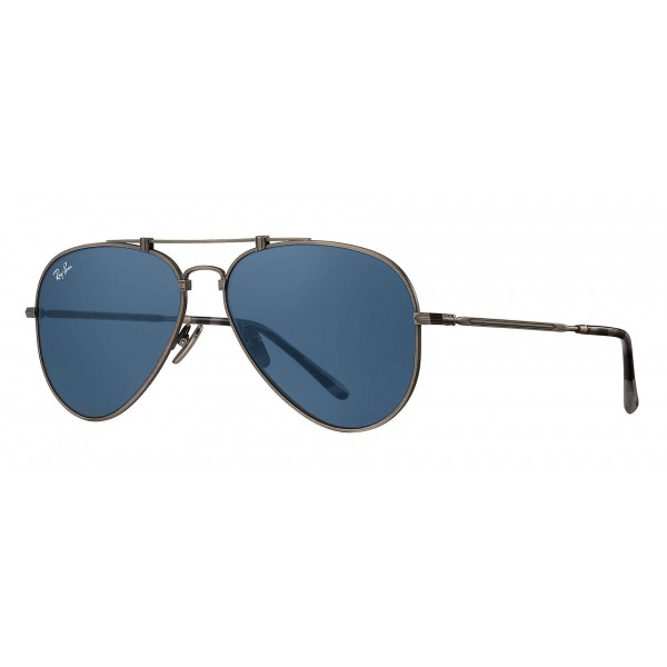 2df0962373 Ray-Ban - RB8125 9138T0 - Original Aviator Titanium - Pewter - Blue Classic  Lenses