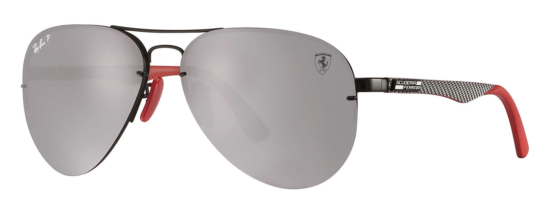98722655f5a75 Ray-Ban - RB3460M F009H2 - Scuderia Ferrari Collection Aviator - Black  Silver Red - Silver Mirror - Sunglass - Eyewear