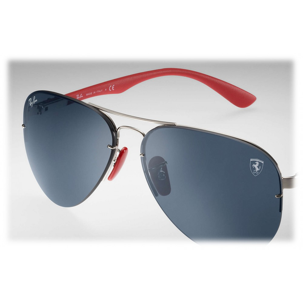 6aebd62b05f5 ... Ray-Ban - RB3460M F01387 - Original Scuderia Ferrari Collection Aviator  - Silver Silver Red ...