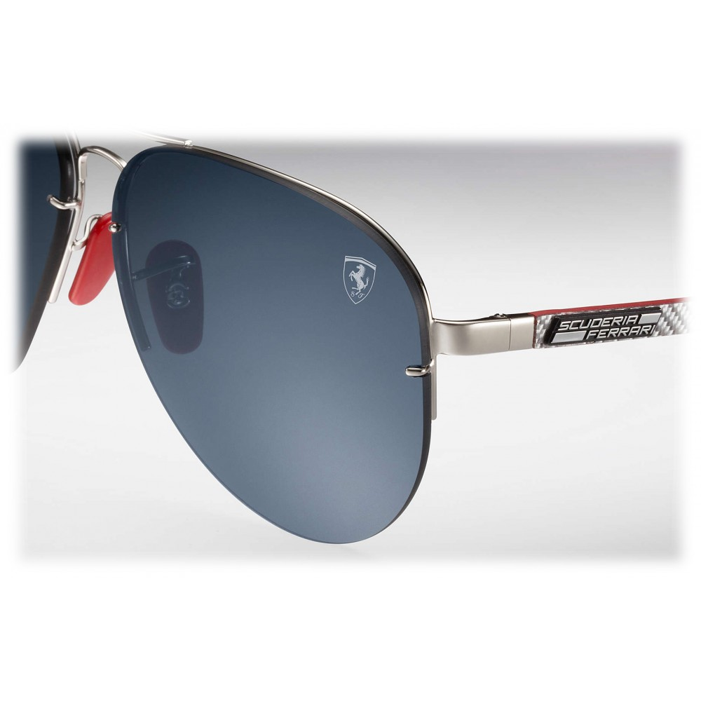 d5da47b8ca388 ... Ray-Ban - RB3460M F01387 - Original Scuderia Ferrari Collection Aviator  - Silver Silver Red ...