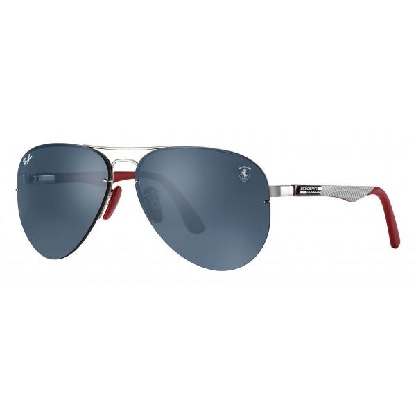 Ray-Ban - RB3460M F01387 - Original Scuderia Ferrari Collection Aviator - Argento Rosso - Grigio - Occhiali da Sole - Eyewear