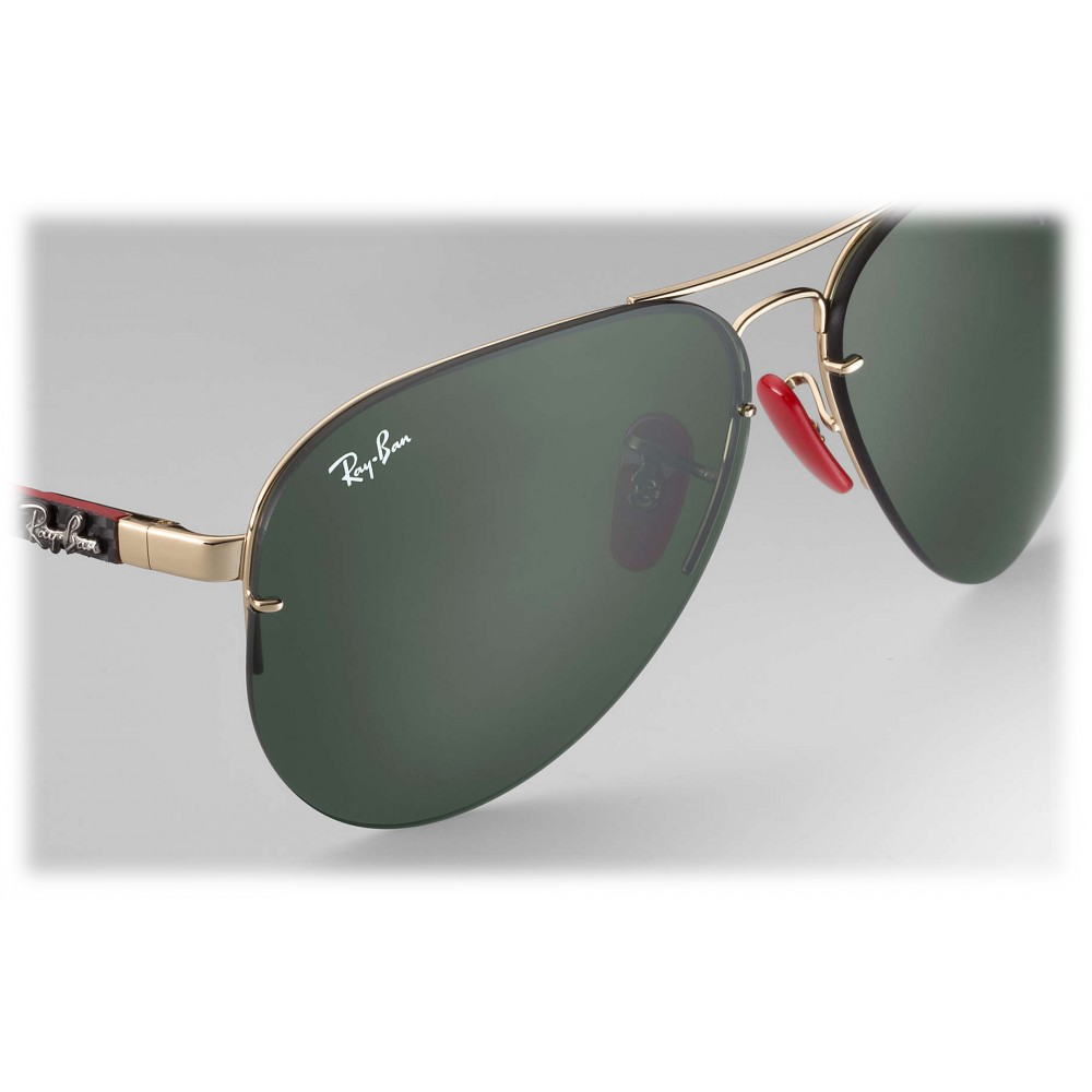 adc72aab74ba5 ... Ray-Ban - RB3460M F00871 - Original Scuderia Ferrari Collection Aviator  - Gold Black Red ...