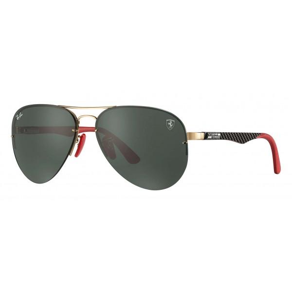 Ray-Ban - RB3460M F00871 - Original Scuderia Ferrari Collection Aviator - Gold Black Red - Green Classic - Sunglass - Eyewear