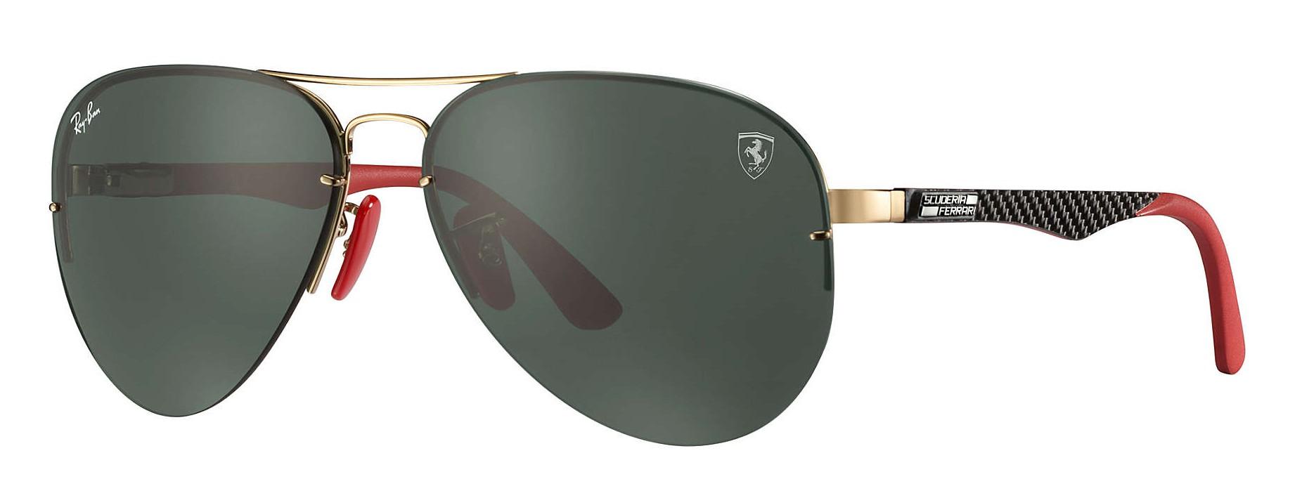 Ray Ban Rb3460m F00871 Original Scuderia Ferrari Collection Aviator Gold Black Red Green Classic Sunglass Eyewear Avvenice