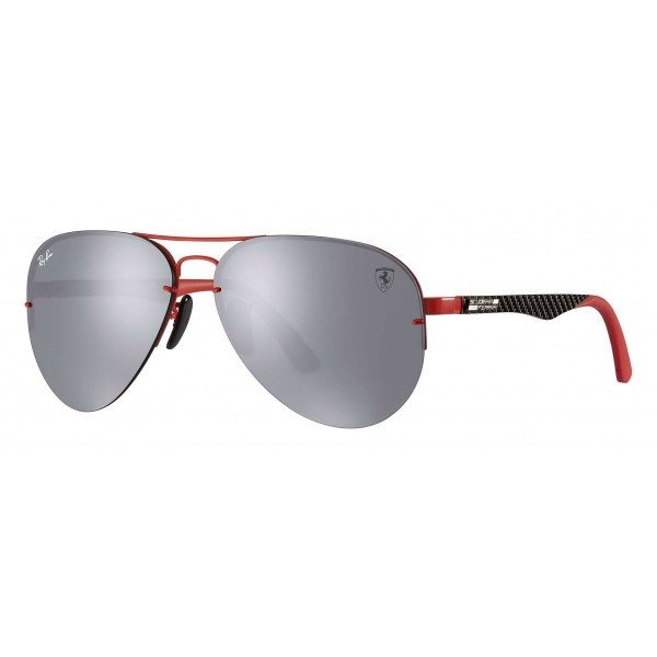 Ray-Ban - RB3460M F0126G - Original Scuderia Ferrari Collection Aviator - Red Black - Grey Mirror - Sunglass - Ray-Ban Eyewear