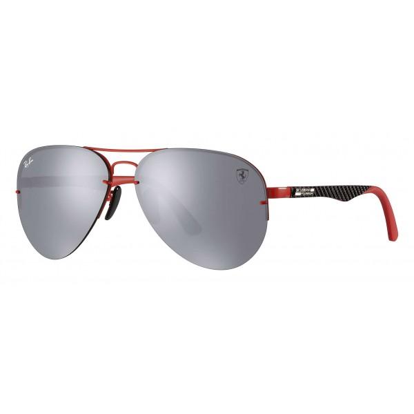 Ray-Ban - RB3460M F0126G - Original Scuderia Ferrari Collection Aviator - Rosso Nero - Grigio - Occhiali da Sole - Eyewear